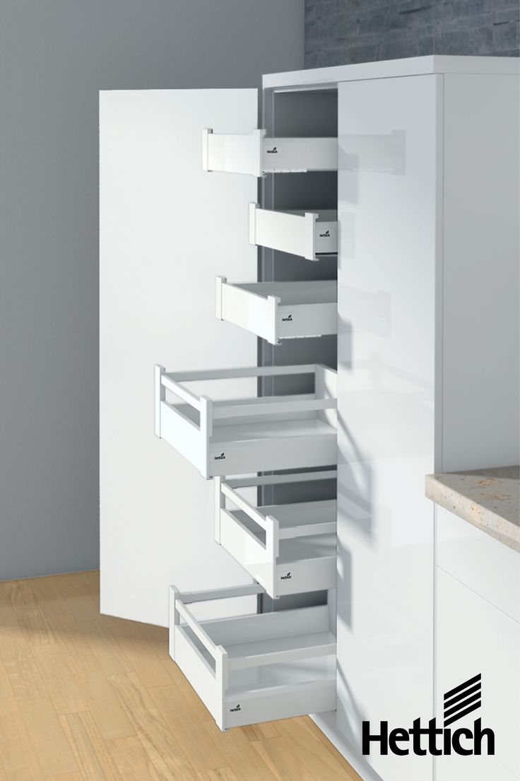 The sleek designer ArciTech drawer from Hettich. With in-built soft close, weight allowance up to 80kg & available in 3 stunning colours. The perfect addition to your designer kitchen. Click the pin for more product information. #kitchendrawers #kitchenstorage