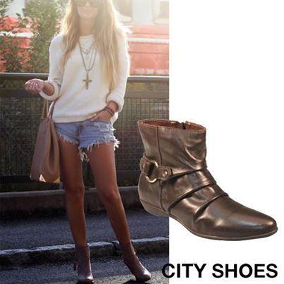 O Outono chegou ! Que tal investir numa botinha para deixar o visual mais estiloso ?!?  Compre aqui : http://www.cityshoes.com.br/botas/bota-mocha.html