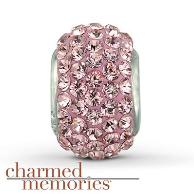 Charmed Memories Swarovski Elements Charm Sterling Silver Stock number: 811298102 Featuring genuine pink SWAROVSKI ELEMENTS, this Charmed Memories® fashion jewelry charm is crafted of sterling silver.