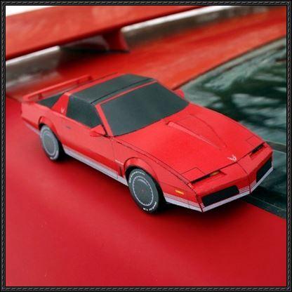 82-84 Pontiac Firebird Paper Car Free Vehicle Paper Model Download