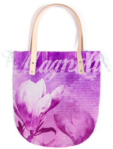 purple bag individually printed with artist design