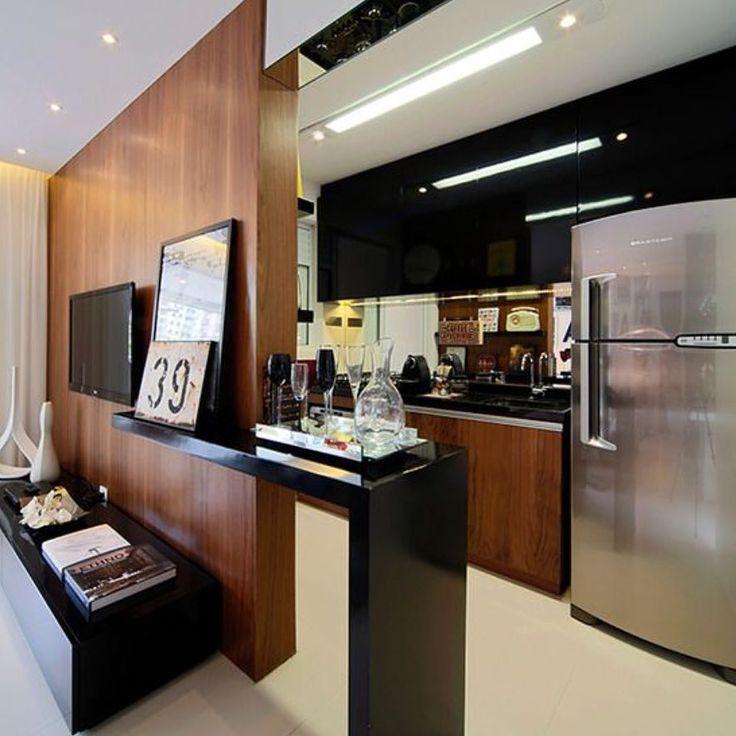 Ambientes integrados com bom gosto e funcionalidade for Kitchen design 65 infanteria