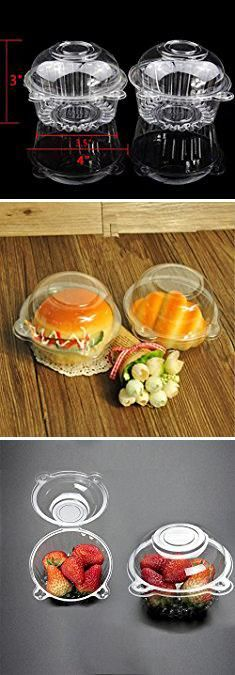 Bulk Cupcake Containers. leoyoubei 100 pieces Clear Plastic Single Individual Cupcake Muffin Dome Holders Cases Boxes Cups Pods- Cupcake Carriers.  #bulk #cupcake #containers #bulkcupcake #cupcakecontainers