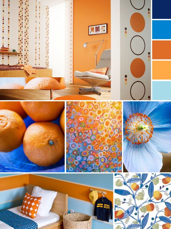 Best 25 orange color schemes ideas on pinterest blue - Blue and orange color scheme for living room ...