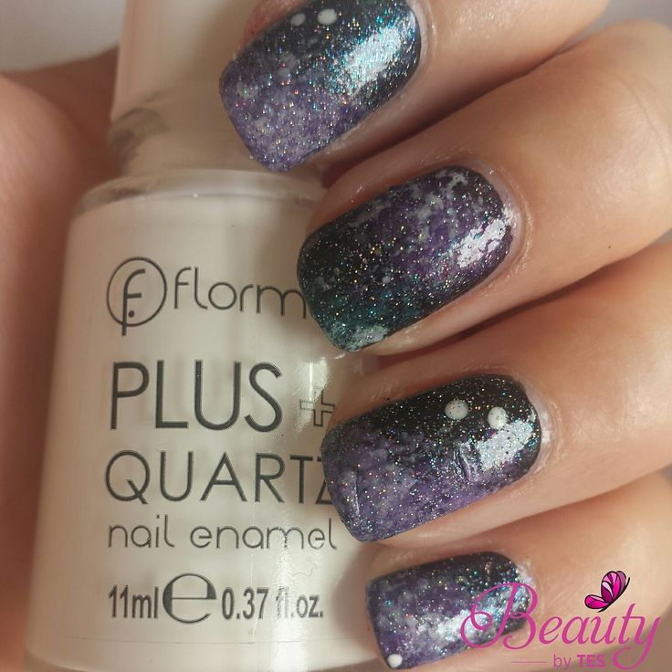 Galaxies nail art