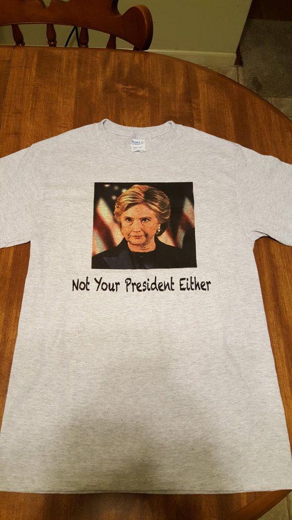 Anti Hillary Clinton T Shirt by CrowdedCabinGoods on Etsy
