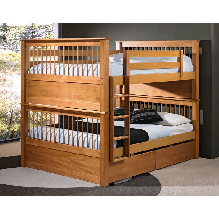 cool! full over full bunk beds for the boys!