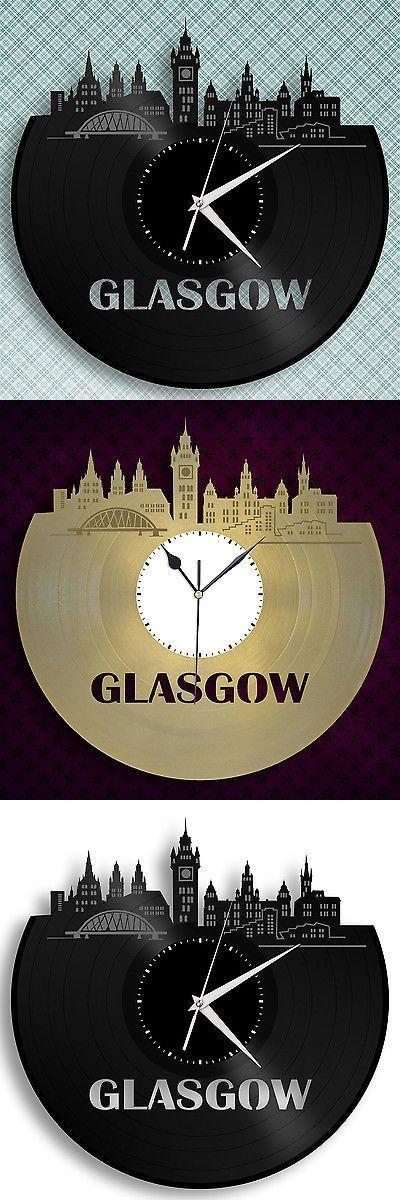 Other Home D cor Clocks 20562: Deco Art, Glasgow Skyline Wall Decor, Scottish Gifts, Retro Clock, Scotland Gift -> BUY IT NOW ONLY: $34.99 on eBay!
