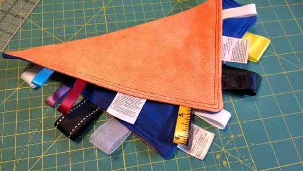 Do it Yourself Mama: Ribbon Tag Blanket http://burlingtonvt.citymomsblog.com/2017/09/18/diy-ribbon-tag-blanket/