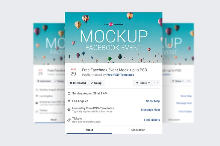 Free Facebook Event Page Mockups Facebook Event Event Page Free Facebook