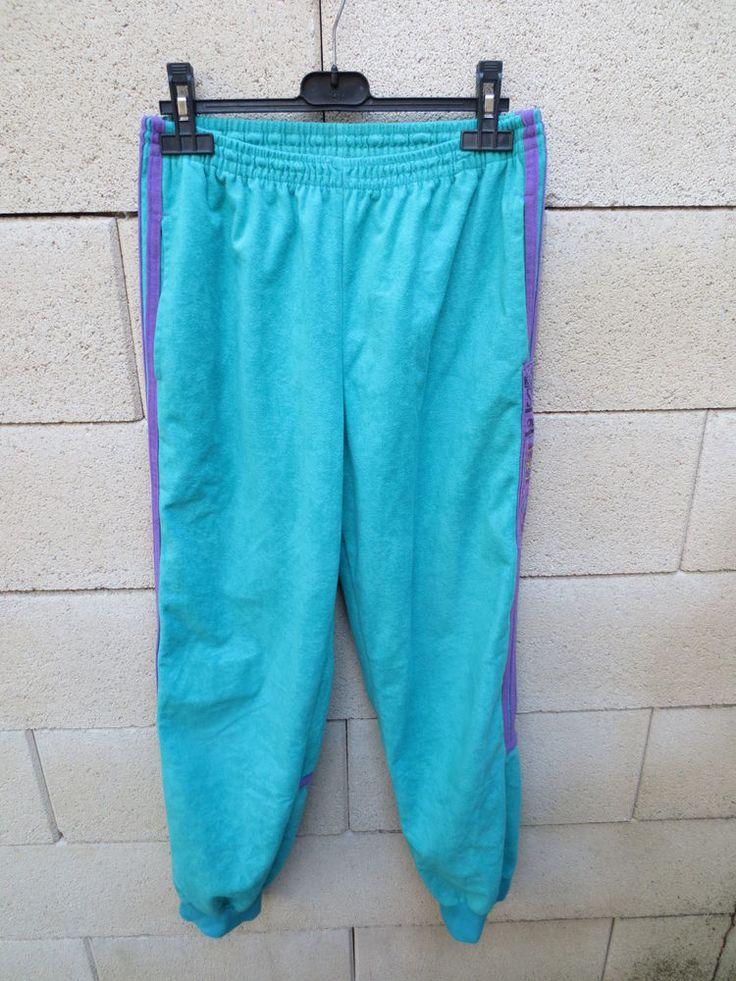 VINTAGE Pantalon ADIDAS MAGIC MOMENT of SPORT Challenger vert clair 162 XS pant #Pantalonscollantsleggings