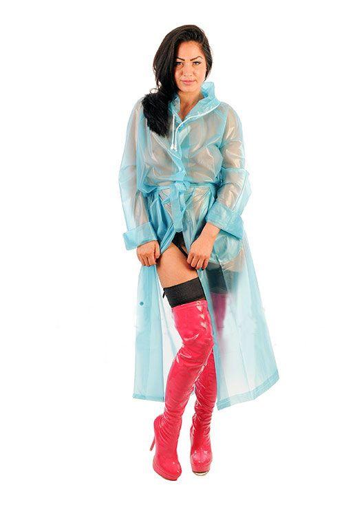 KEMO Cyberfashion Onlineshop für Mode und Regenkleidung aus PVC-PVC Regenmantel Imperméable