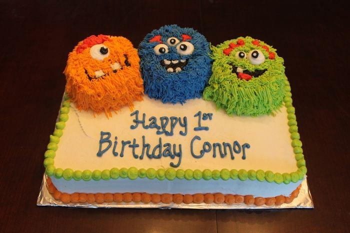 Monster Birthday Cake   www.lahootbakery.com