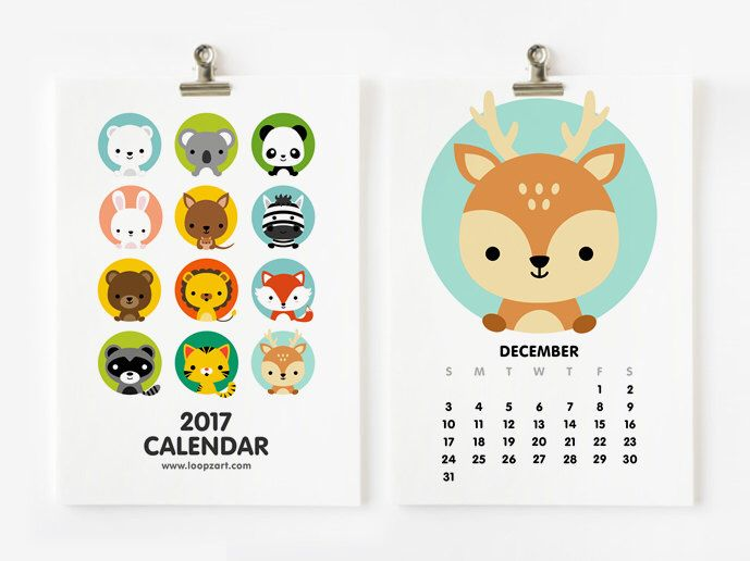 Year Calendar Animal : Best calendar creative images on pinterest