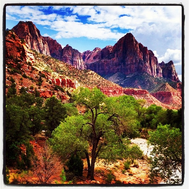 The beautiful Zion National Park in Utah.