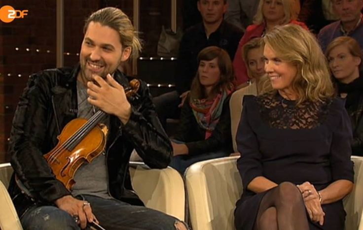 David with his mom, TV ZDF Markus Lanz 15.10.2015