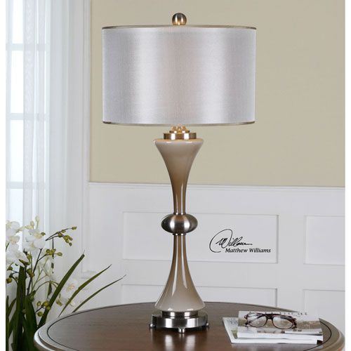 Amerson brushed nickel one light table lamp uttermost accent lamp table lamps lamps