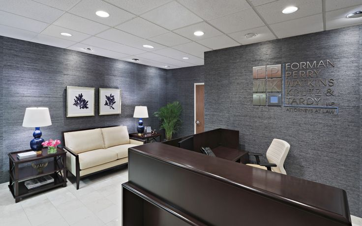 Law firm reception area designed by christina kim interior for Office design ideas for business office