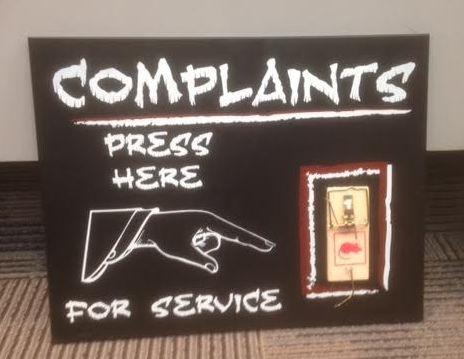 Ik moest lachen toen ik dit bord tegen kwam in Calgary