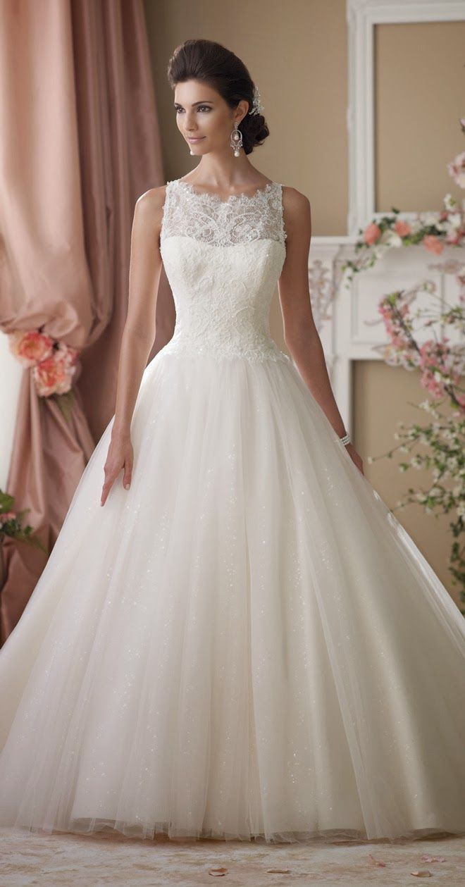 Beautiful Ballgown ~ David Tutera for Mon Cheri Spring 2014 Bridal Collection | bellethemagazine.com