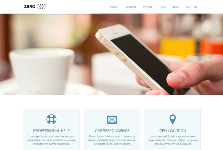 Zero is a Multipurpose WordPress Theme with clean, minimalist, responsive design and lots of advanced features.