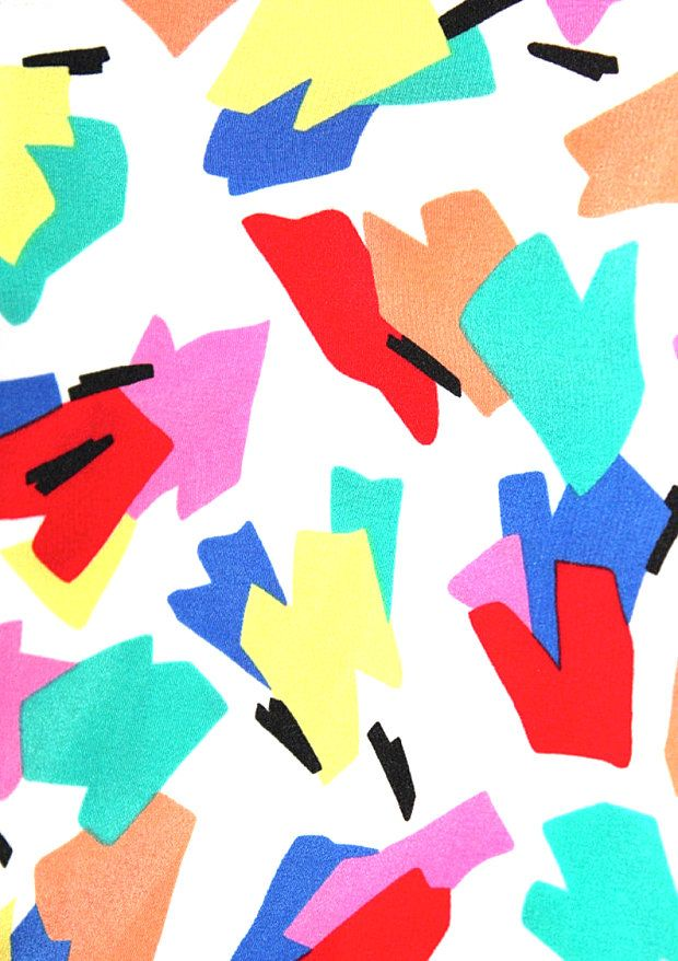 An abstract '80s dress pattern from etsy shop Keep Drawer