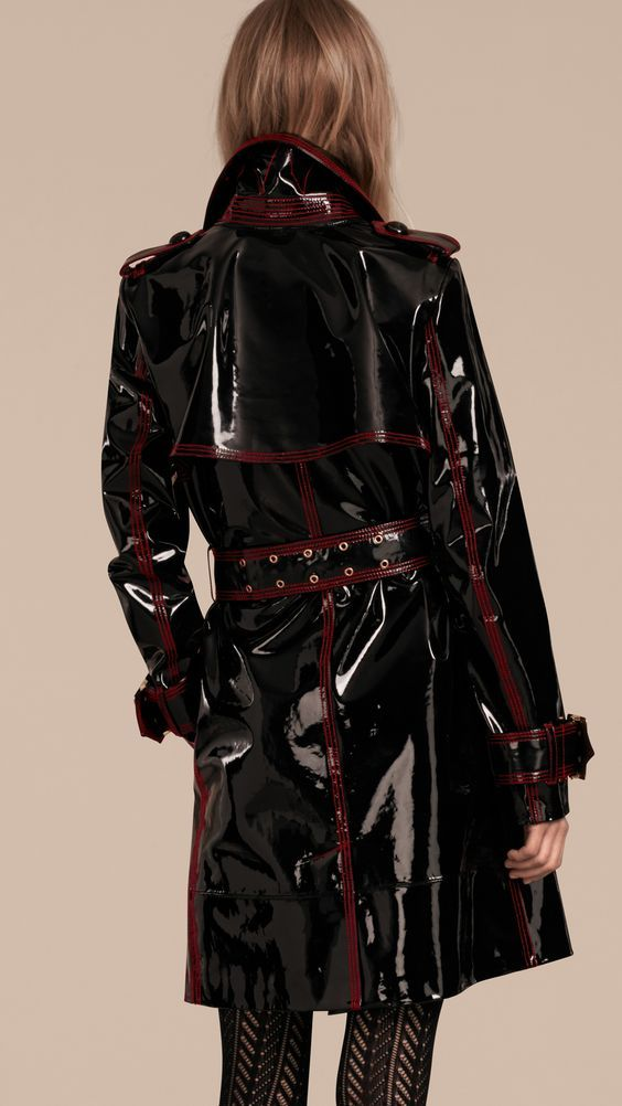 Unlined Patent Leather Trench Coat | Burberry                                                                                                                                                                                 Mehr