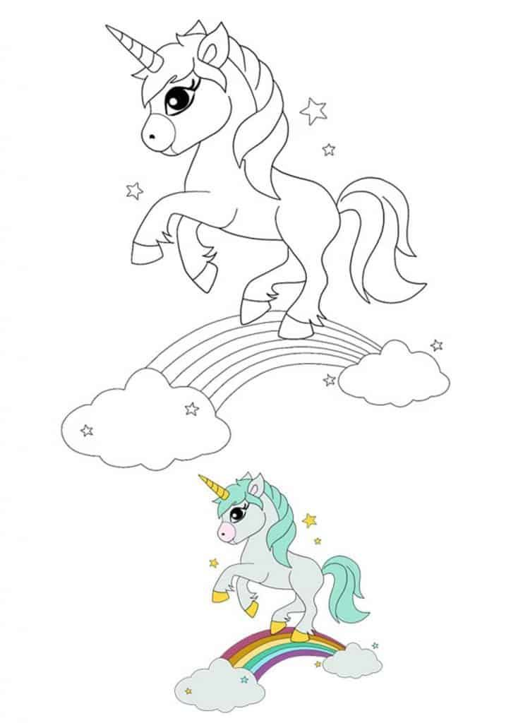 Rainbow Unicorn Drawing Coloring Page Free Printable Coloring Pages Unicorn Coloring Pages Cat Coloring Page Unicorn Drawing