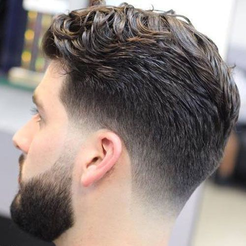 Low Taper Fade with Long Wavy Hair