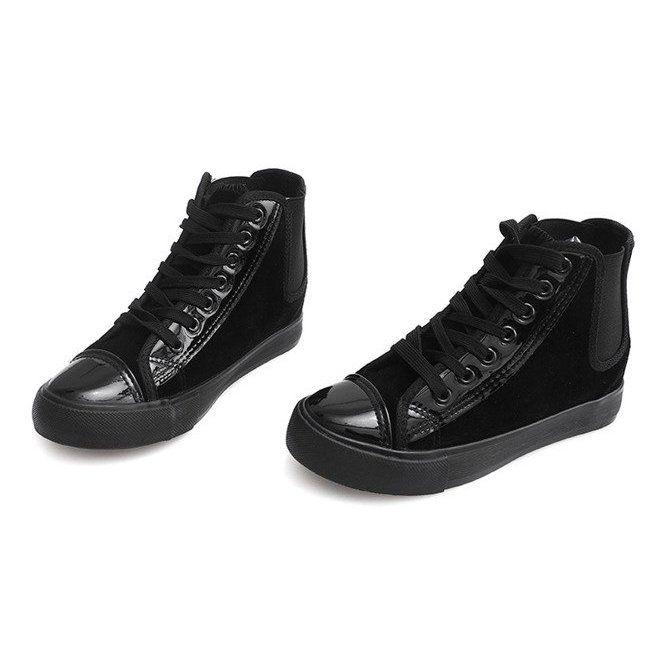 Czarne Wysokie Trampki Jx 95 High Sneakers Boots Fall Ankle Boot Shoes Women