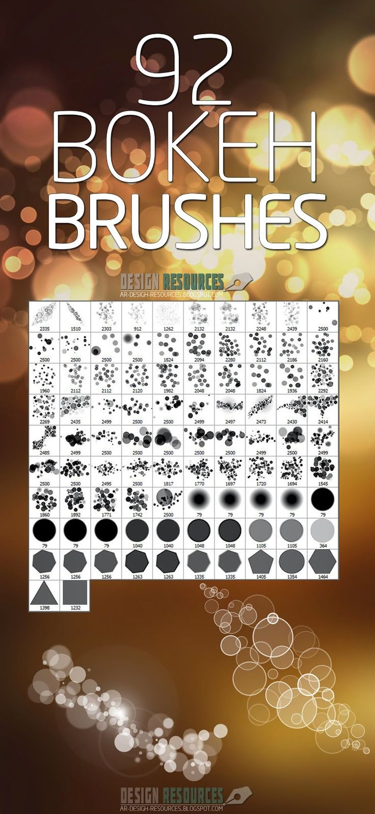 92 bokeh brushes photoshop add ons