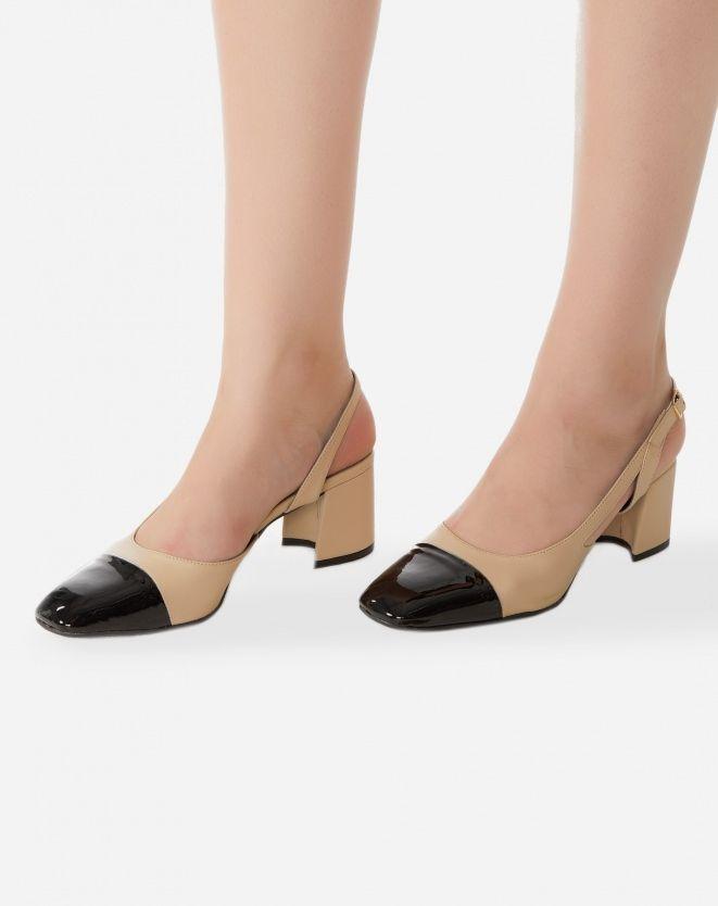 c621c4f66b AMARO Feminino SCARPIN SALTO GROSSO SLING BACK, BEGE | Shoes ...