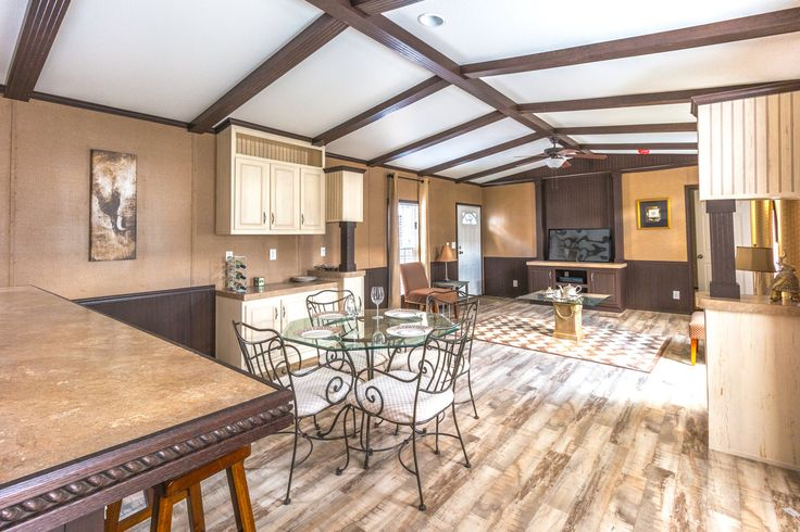 Palm Harbor Modular Homes >> Open living area - Model 16763R single wide manufactured home with 3 Bedrooms, 2 Baths, 1,185 Sq ...