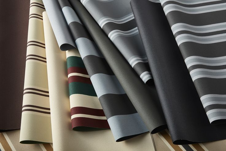 NEW! Canvas, Dickson and Everscreen Collections - introducing the new external fabric colours of 2017, a classic range of solids and stripes in a refreshed palette of grey tones and natural brown hues.