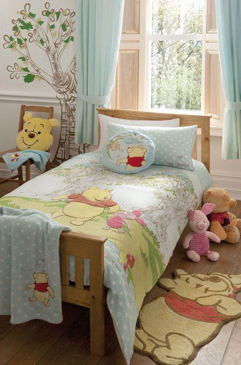 Winne the Pooh bedding set.  http://www.beddingworld.co.uk/p/Disney_Poohs_Hunny_Spot_Bedding_Set.htm