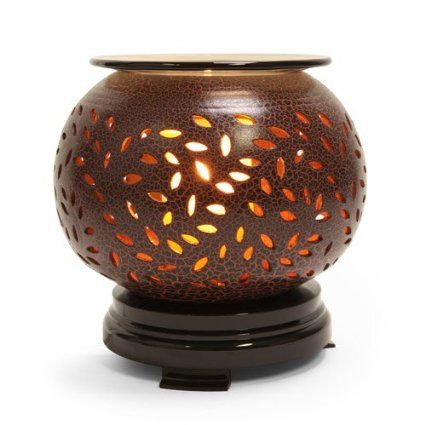 Amazon Com Crackled Brown Ceramic Electric Wax And Oil