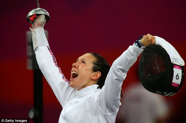 Delight: Britain's Samantha Murray ended up winning silver in the women's modern pentathlon.