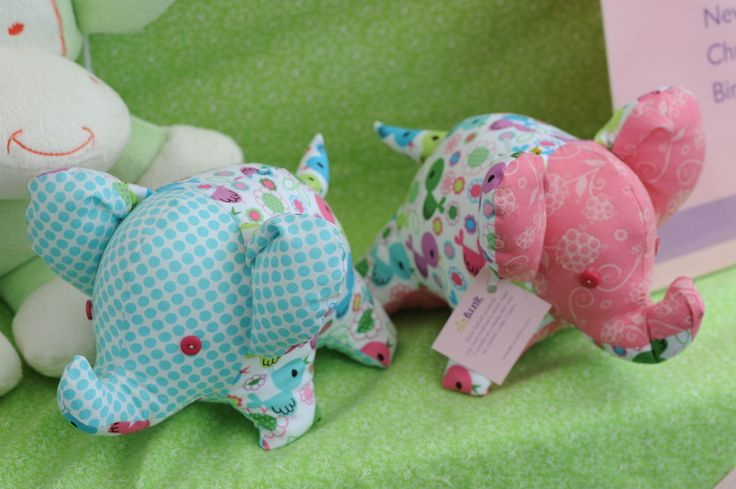 soft toys and personalised cushions by Elefunk.