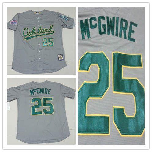 promo code 1c2b5 3589a mens oakland athletics 25 mark mcgwire green new cool base ...