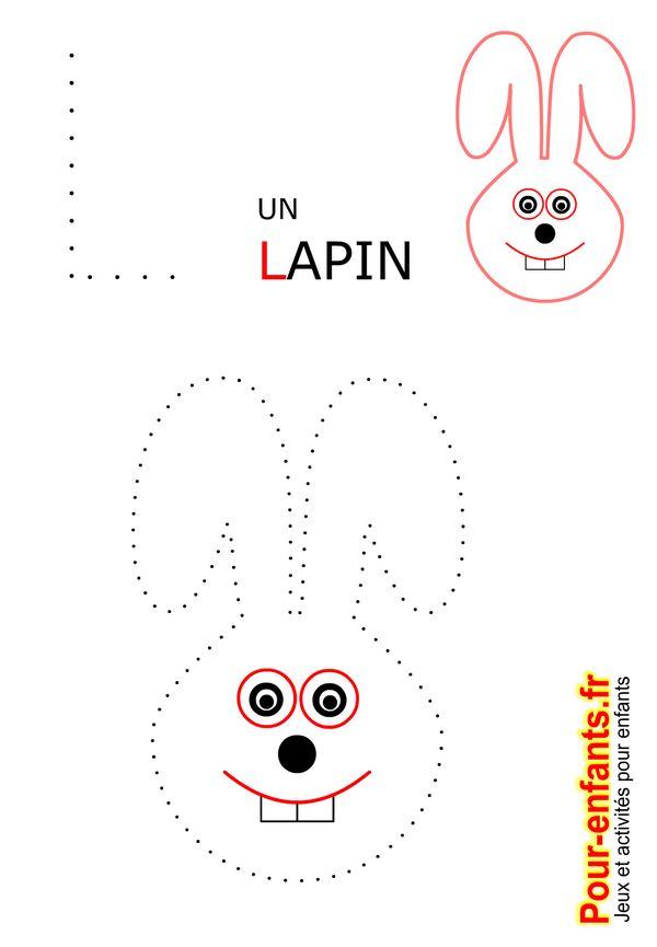 Jeux à imprimer maternelle jeu dessins A relier enfants de maternelle imprimer gratuitement dessin de lapin gratuit