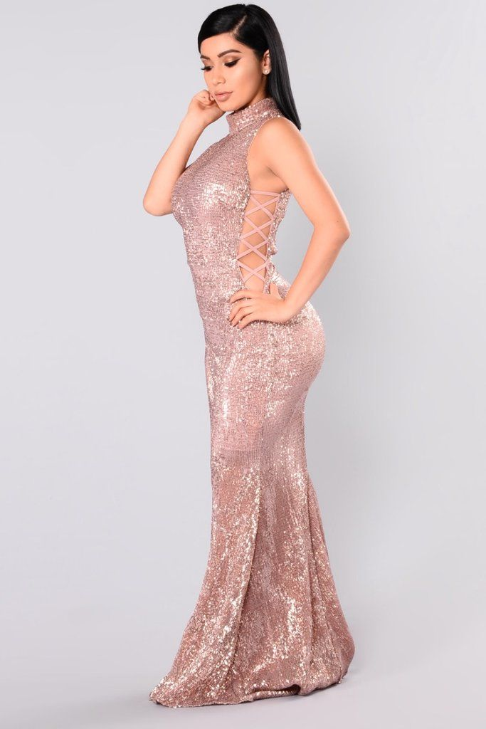 2b45dd9b3833 Rose Gold by Fashion Nova Sequin Dress