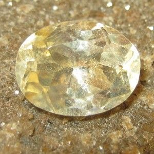 Light Yellow Citrine Oval Cut 3.05 carat