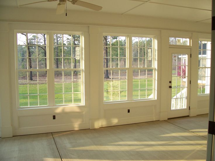 1000 images about enclosed porches on pinterest sun for Sunroom interior walls