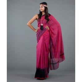 Magenta Shaded Silk Saree by Neeru Kumar