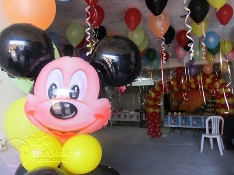 Decoracion fiesta tematica mickey mouse youtube - Fiesta tematica mickey mouse ...