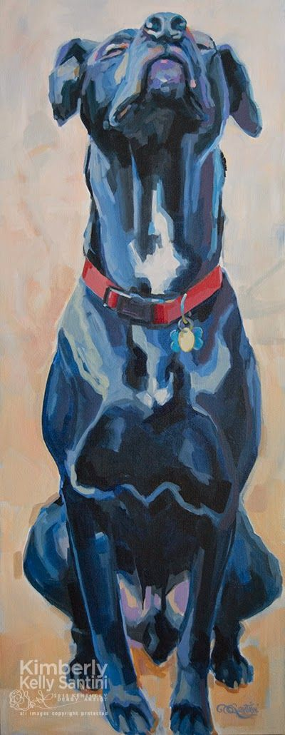 "Paintings With Soul: Feeling Zen? Zen Dog by Kimberly Santini, 36"" x 14"", $2999"