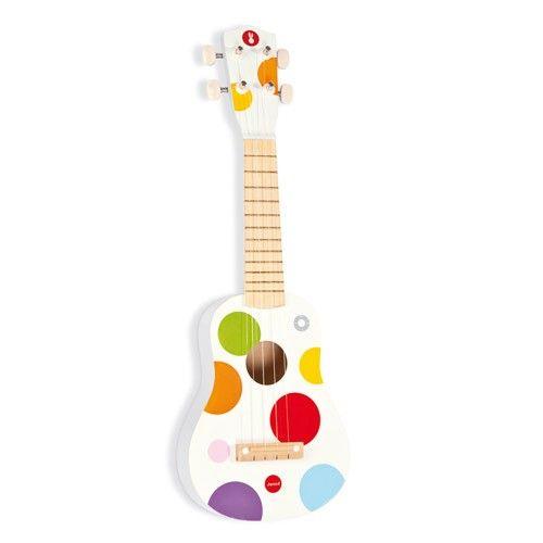 confetti ukelele gitaar 53 cm janod | ilovespeelgoed.nl
