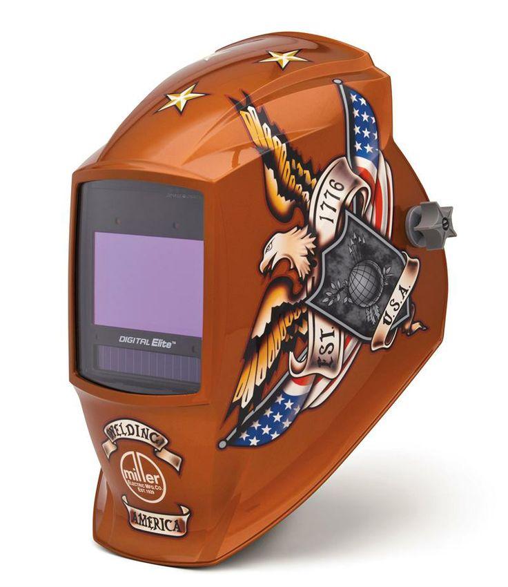 miller welding Glove | Miller Digital Elite Vintage USA Welding Helmet