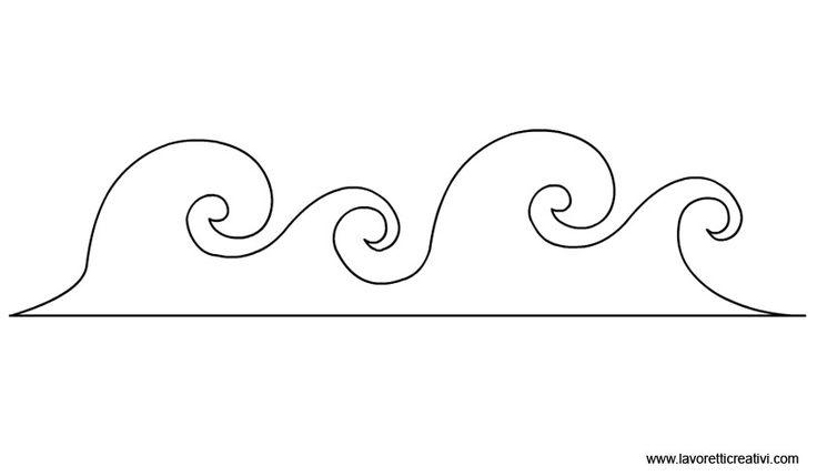 ONDE MARE Inseriamo i disegni di alcune onde che possono essere utili per realizzare lavoretti con il legno, il cartoncino o altro materiale. Scegliete la