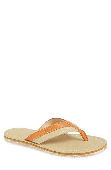 leather flip flops for men